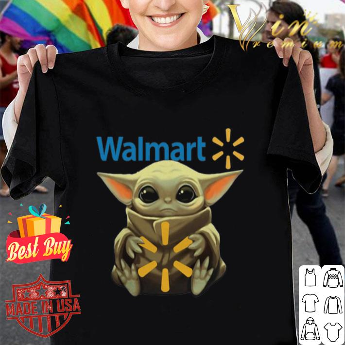 Baby Yoda hug Walmart Star Wars Mandalorian shirt