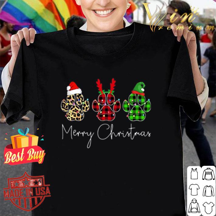 - Bear Paw Merry Christmas Leopard shirt