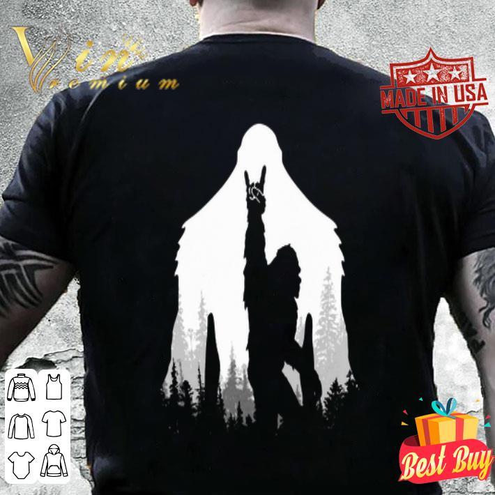 - Bigfoot Rock and Roll hand sign natural shirt