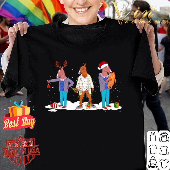 - BoJack Horseman Reindeer Santa Christmas shirt