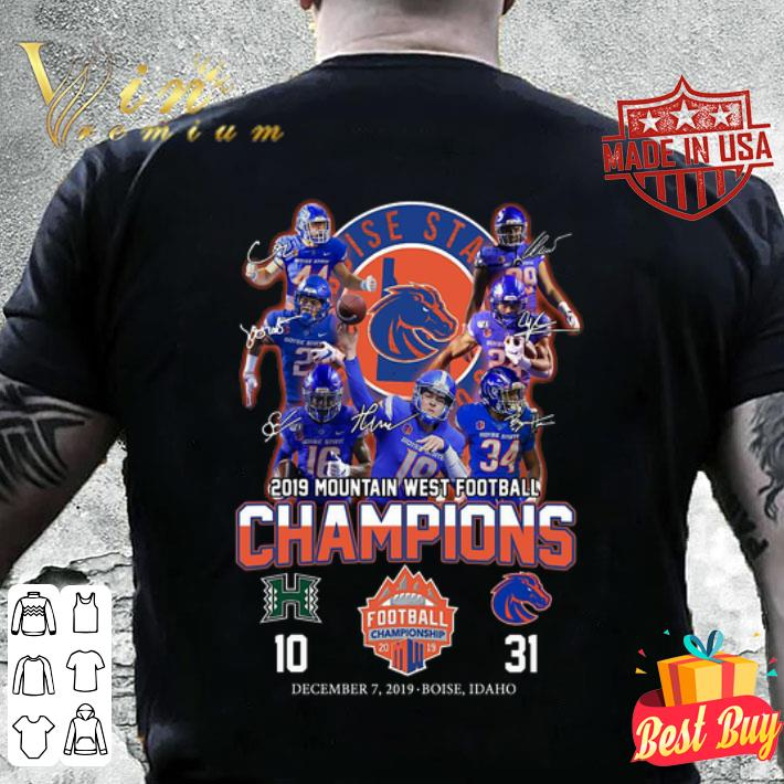 Boise State Broncos signed 2019 Mountain West Football Champions shirt
