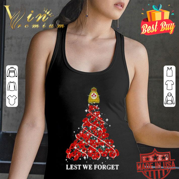 Canadian Army lest we forget Christmas tree shirt