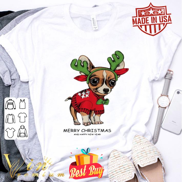 - Chihuahua Merry Christmas and Happy New Year shirt