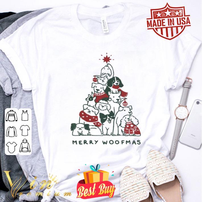 - Christmas Merry Woofmas dog tree shirt
