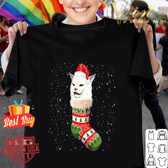 - Christmas socks Woman Yelling Cat Meme shirt