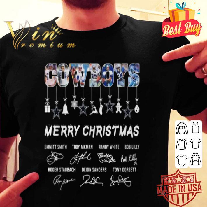 Dallas Cowboys Merry Christmas all signature shirt