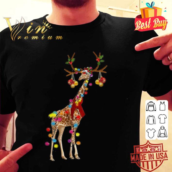 - Giraffe gorgeous reindeer Christmas shirt