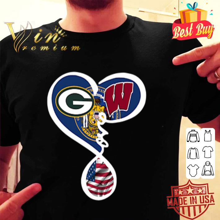 - Green Bay Packers Wisconsin Badgers American flag shirt