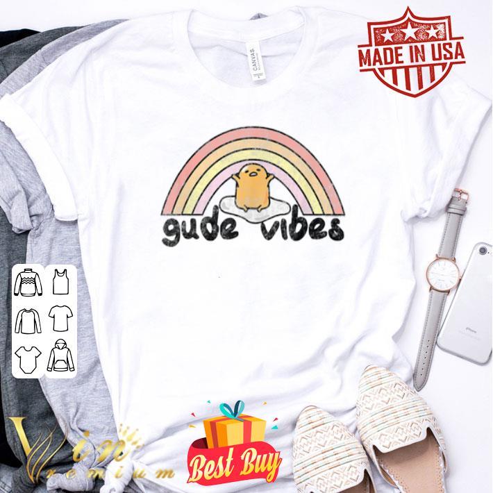 Gudetama Gude Vibes Rainbow shirt