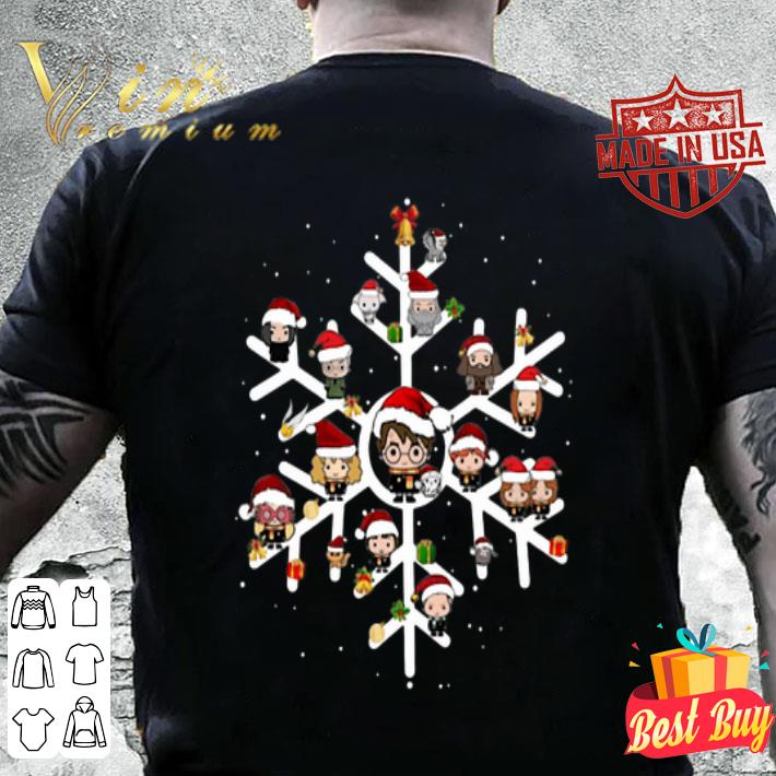 Harry Potter Characters On Snowflakes shirt