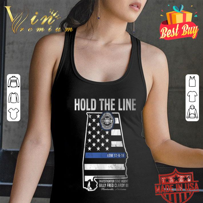 Hold The Line Investigator Stac Agent Billy Fred Clardy III shirt