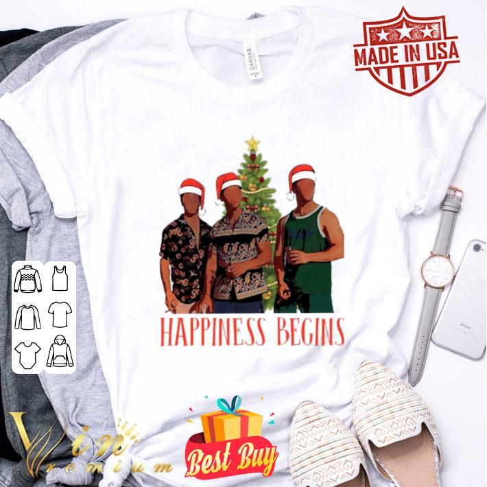 - Jonas Brother Santa Happiness Begins Christmas shirt