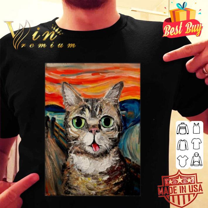 - Lil Bub The Scream Vincent Van Gogh shirt