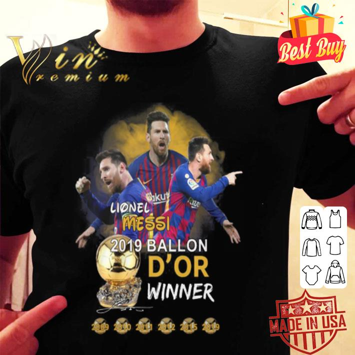 Lionel Messi 2019 Ballon D'or winner shirt