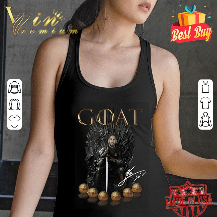 Lionel Messi 6 golden ball Goat Game Of Throne Signature shirt