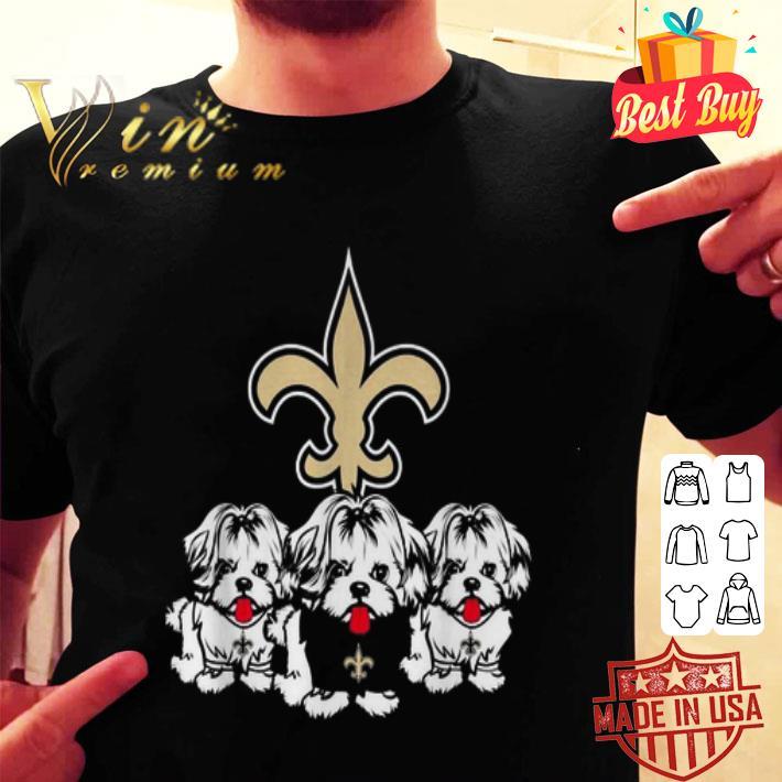 New Orleans Saints Shih Tzu shirt