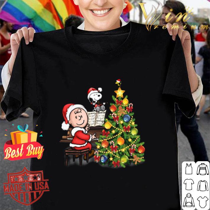 - Peanuts Snoopy Charlie Brown Christmas tree shirt