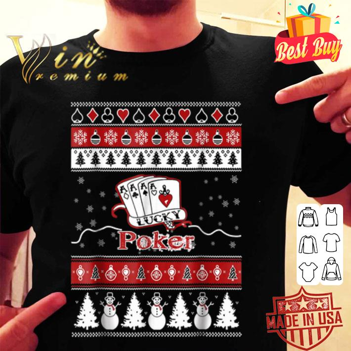 Poker Merry Christmas ugly playing card sweater