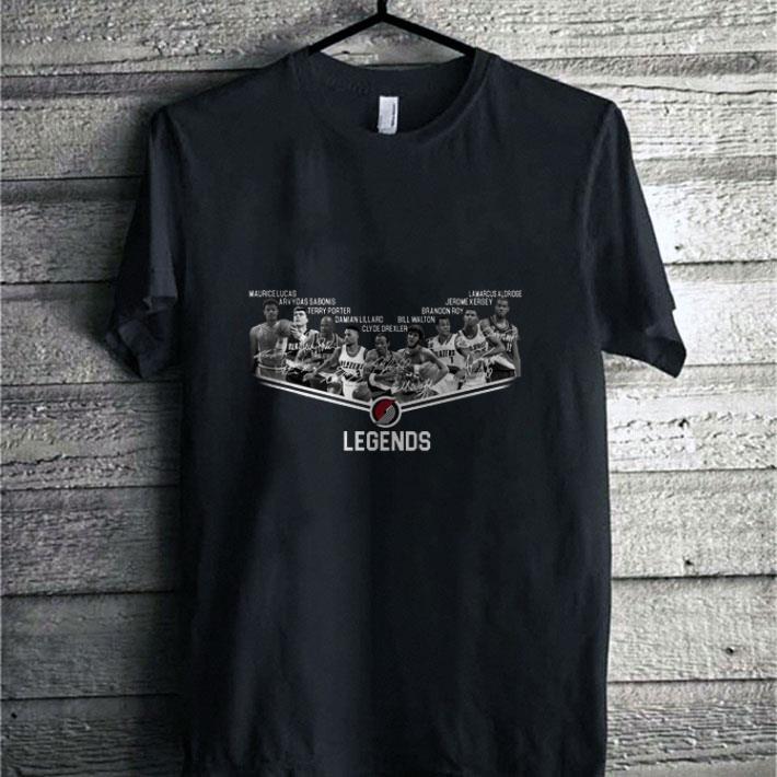 - Portland Trail Blazers Legends all signature shirt