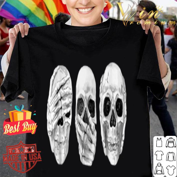 - Skull See Speak Hear No Evil Skeleton Halloween shirt