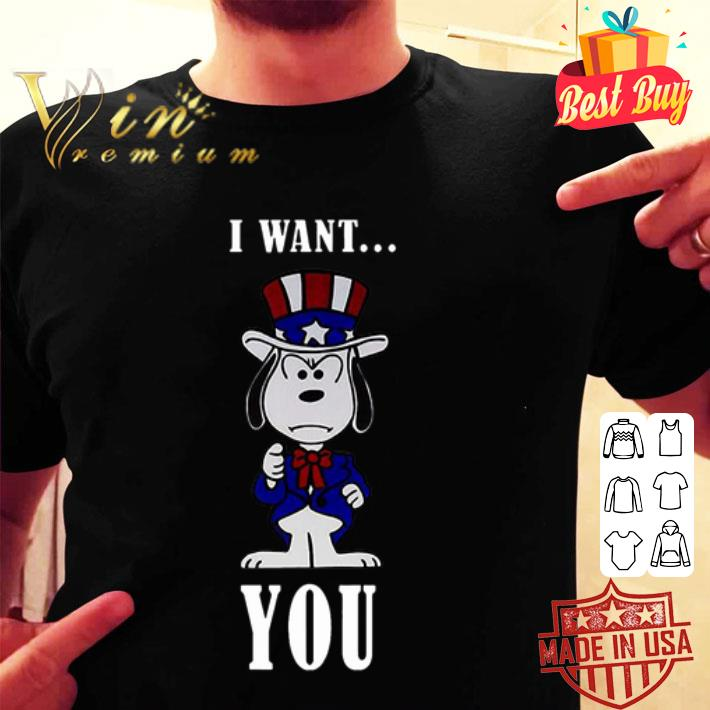 - Snoopy American Flag I want you shirt
