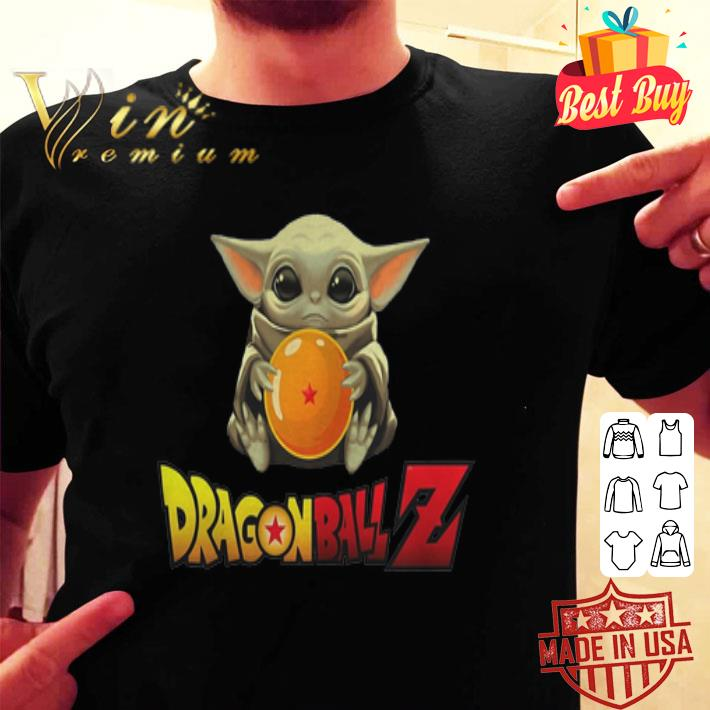 - Star Wars Baby Yoda Hug Dragon Ball Z Mandalorian shirt