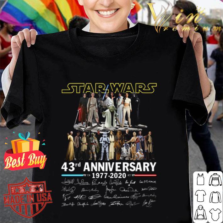 - Star Wars all character 43rd anniversary 1977 2020 all signature shirt