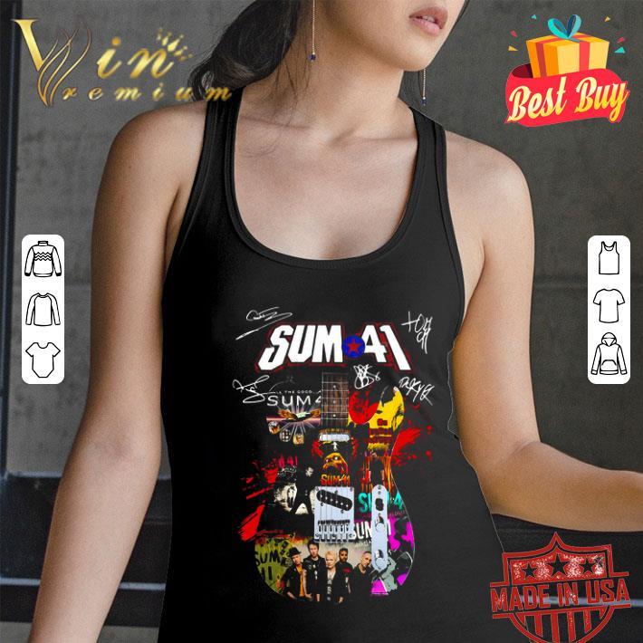 - Sum 41 Guitarist all signature shirt
