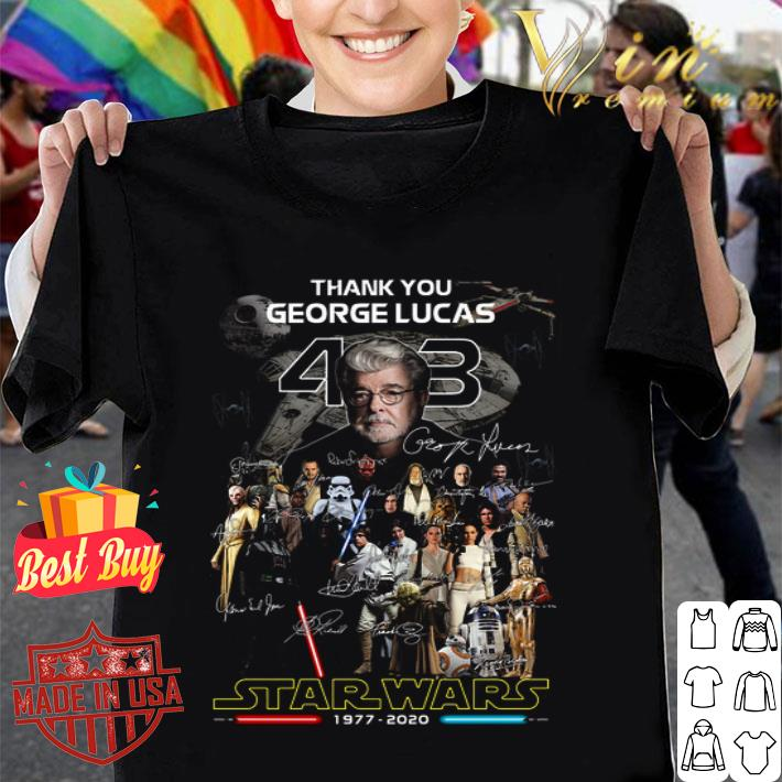 - Thank you George Lucas all signature Star Wars 1977 2020 shirt