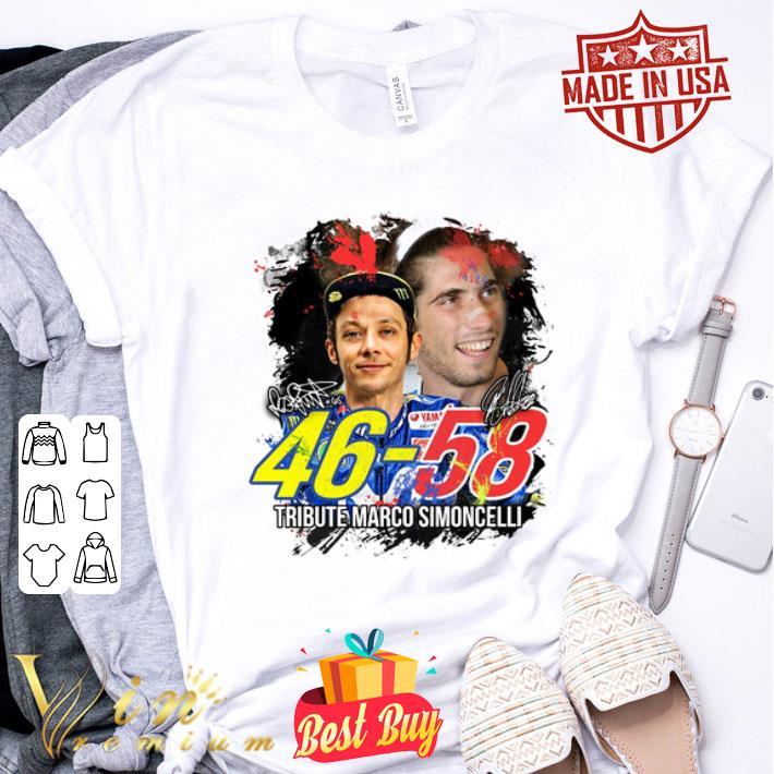 Valentino Rossi 46 Tribute Marco Simoncelli 58 signatures shirt
