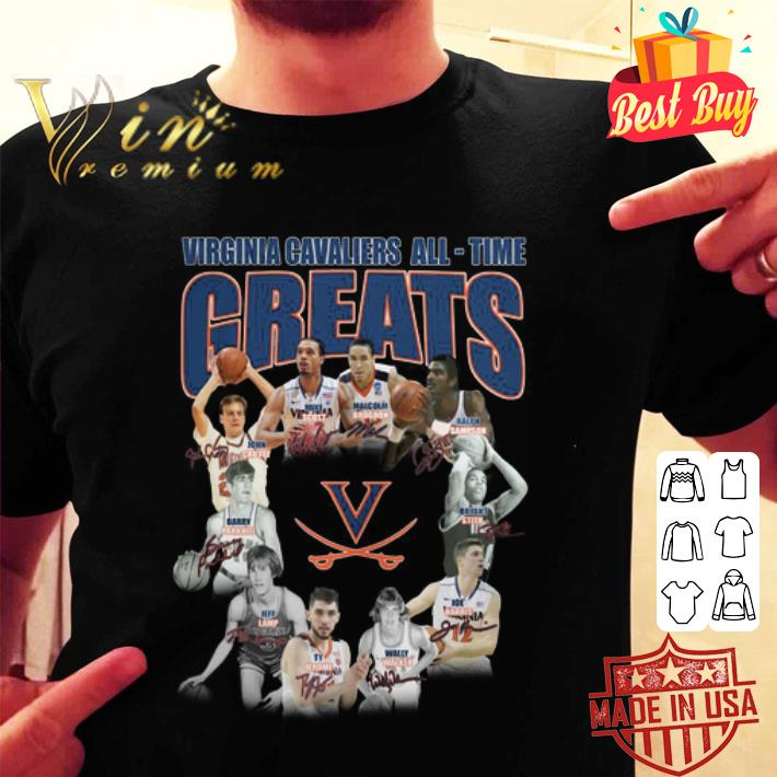 - Virginia Cavaliers all time greats legends all signature shirt