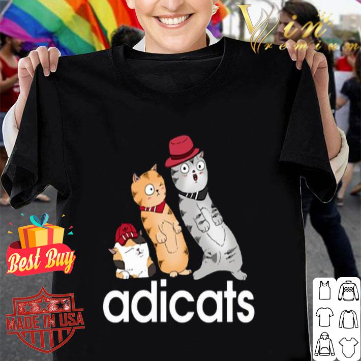 - adicats cartoon cat adidas shirt
