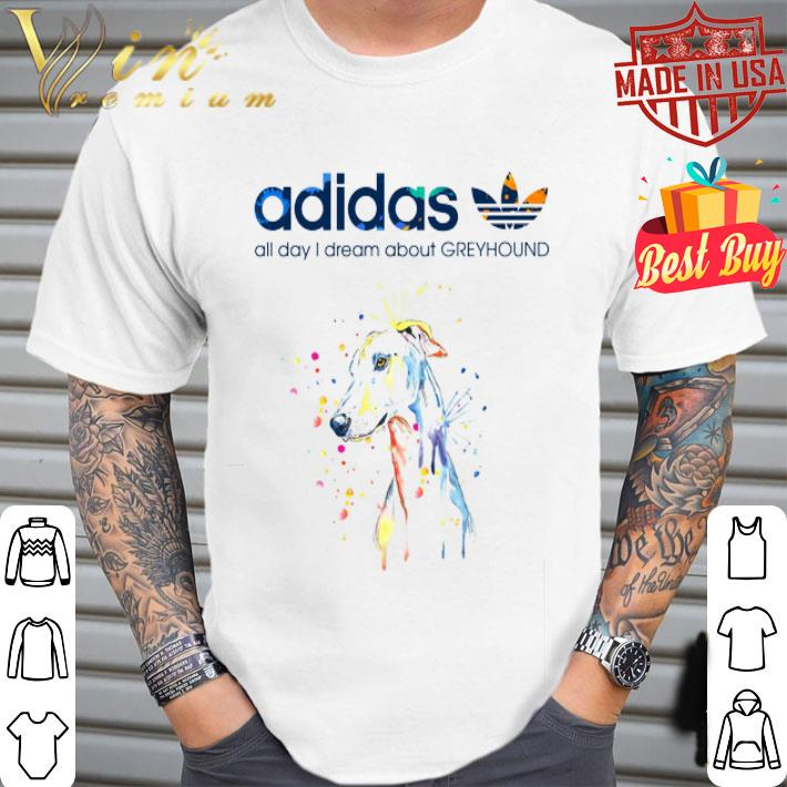 - adidas all day i dream about Greyhound shirt