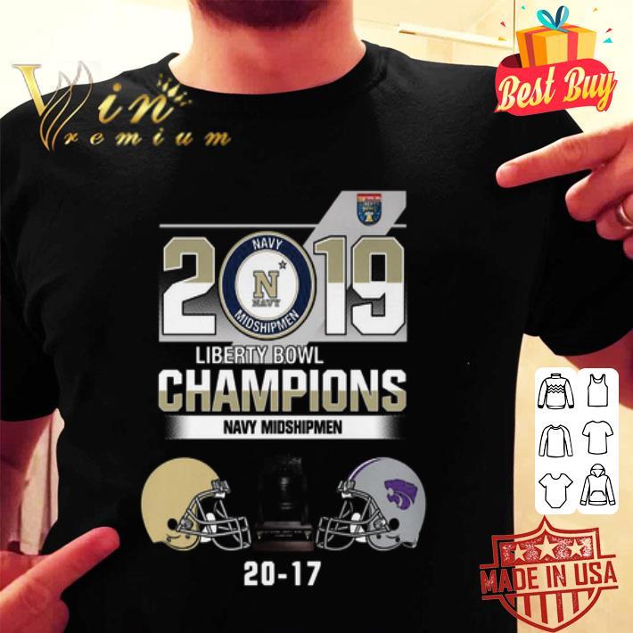 - 2019 Liberty Bowl Champions Navy Midshipmen 20 17 Kansas State shirt