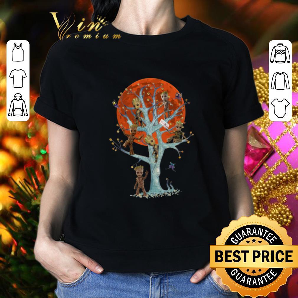 - Baby Groots On Tree Blood Moon shirt