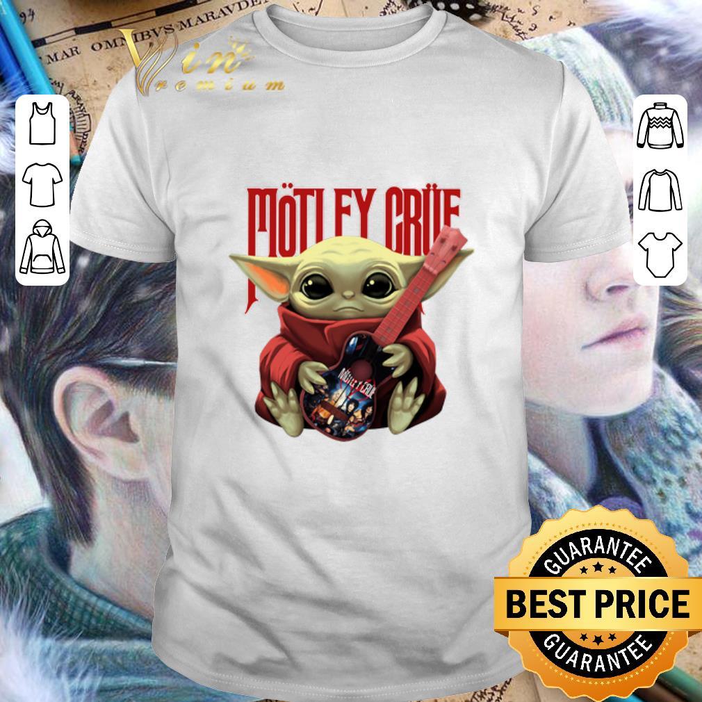 Clickbuypro Unisex Tshirt Baby Yoda Hug Motley Crue Guitar Star Wars Shirt T-shirt Navy M