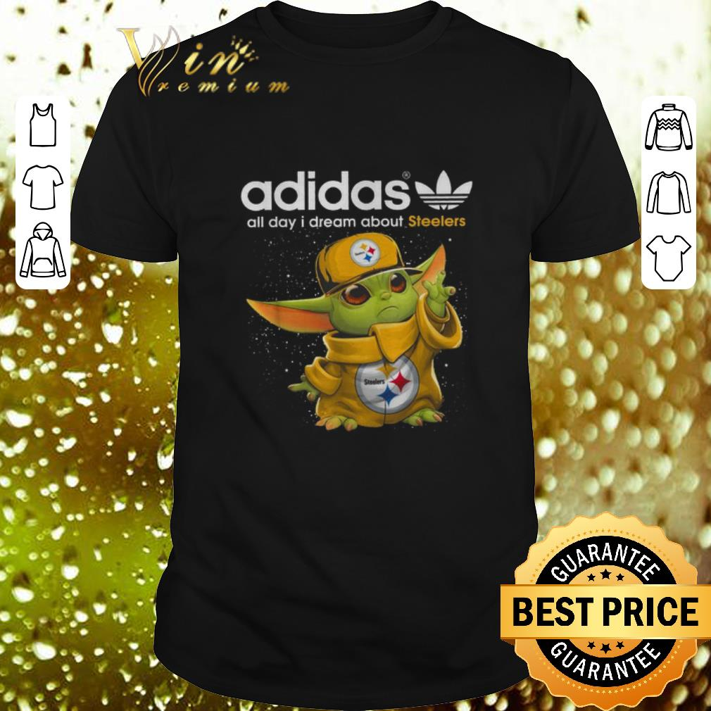 - Baby Yoda adidas all day i dream about Pittsburgh Steelers shirt