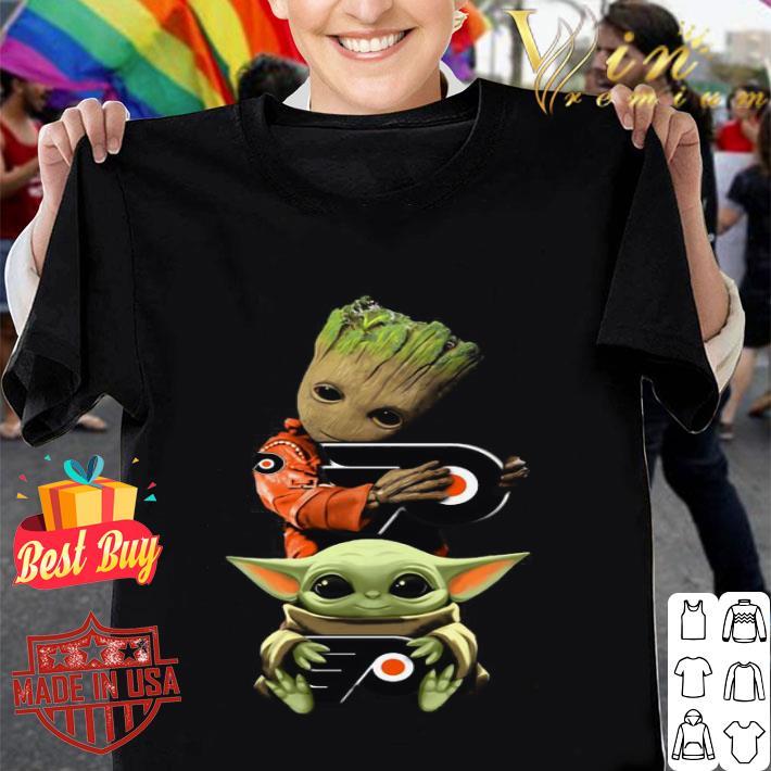 - Baby Yoda and Baby Groot hug Philadelphia Flyers Star Wars shirt