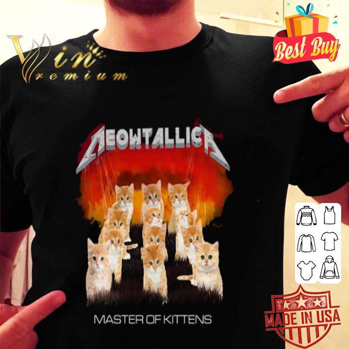 - Cats Meowtallica Master Of Kittens shirt