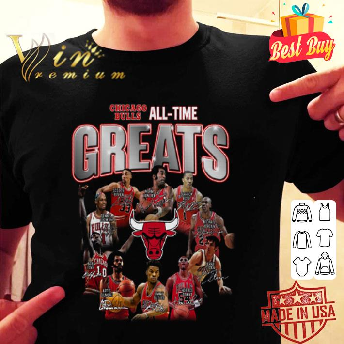 - Chicago Bulls all time greats legends all signature shirt