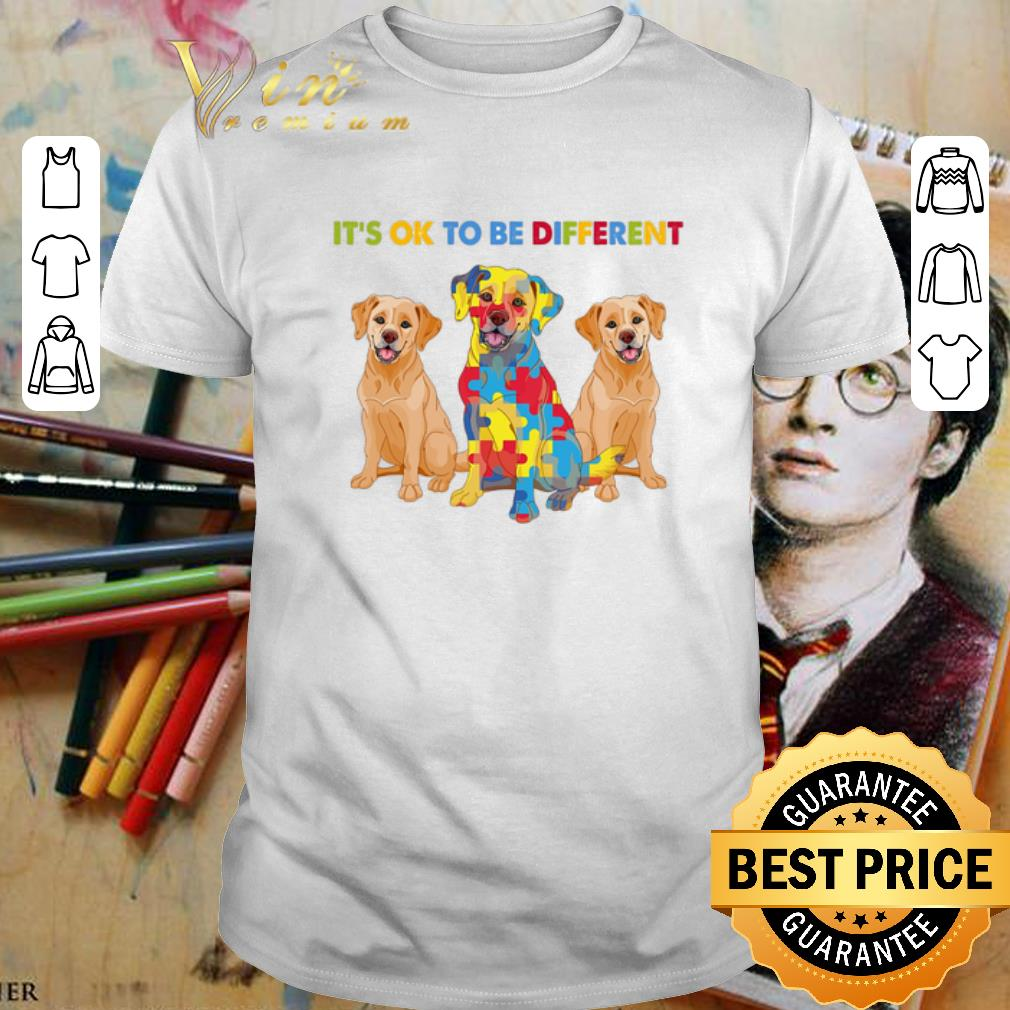 - Golden Retriever It's ok to be different Autism Awareness shirt