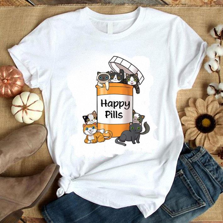 - Happy Pills Cats Funny shirt