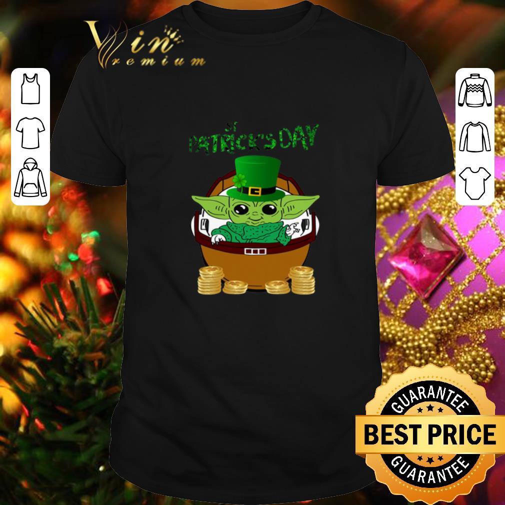 - Happy St Patrick's Day Baby Yoda Star Wars shirt