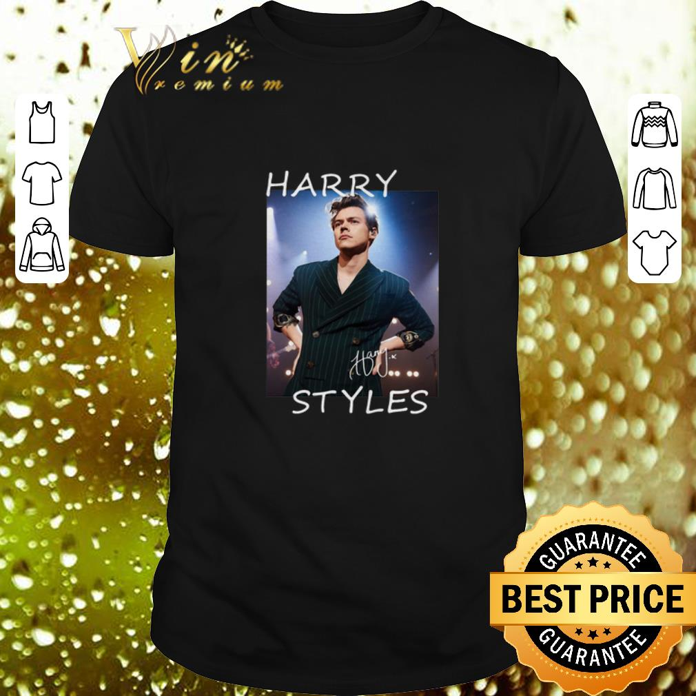 Clickbuypro Unisex T-shirt Harry Styles Autographed Signature Shirt Hoodie Navy S