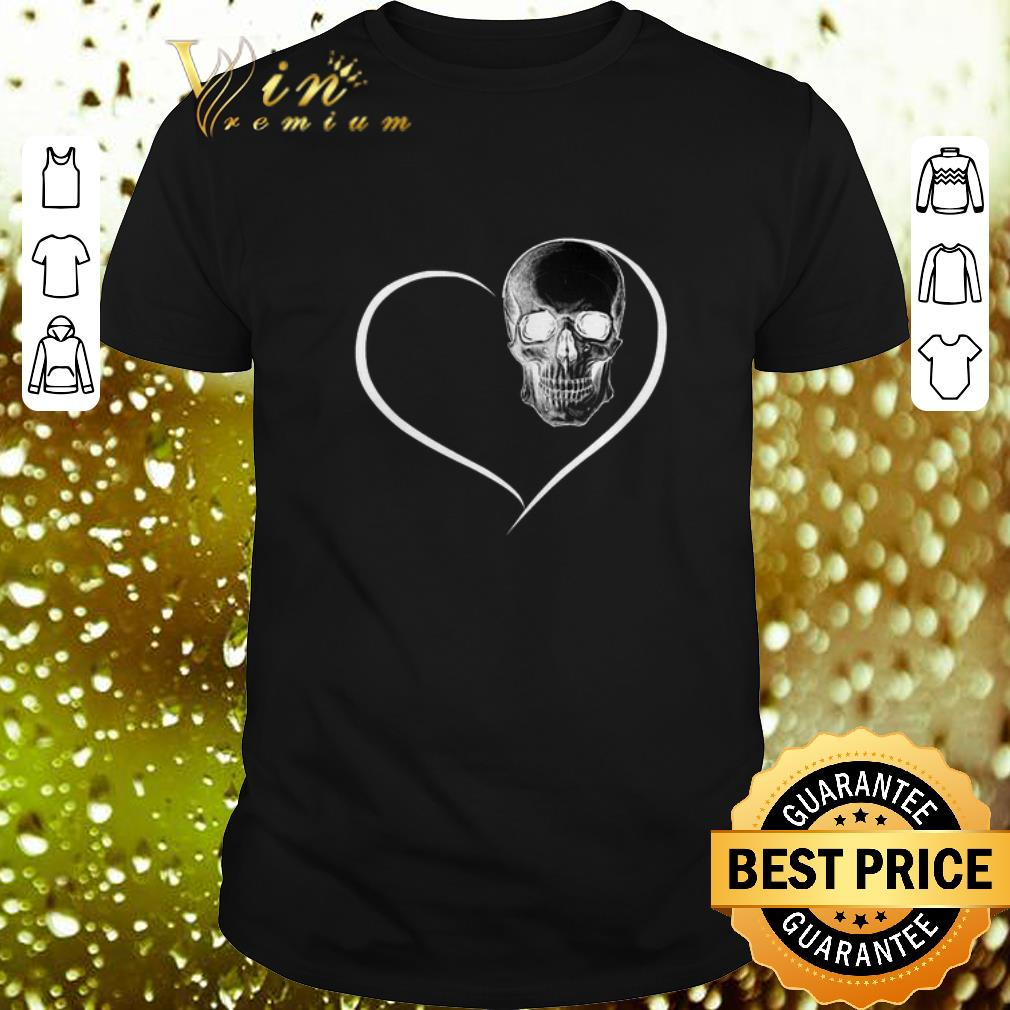- I Love Skull Heart shirt