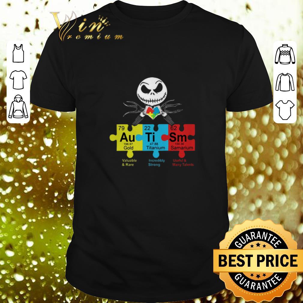 - Jack Skellington Autism Awareness Gold Titanium Samarium shirt