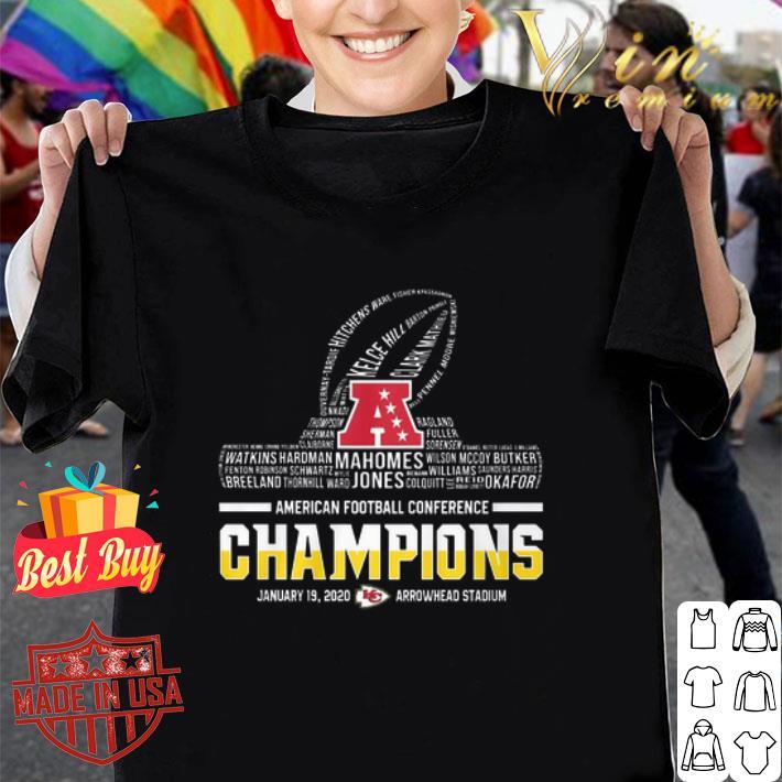 - Kansas City Chiefs player American football conference Champions shirt