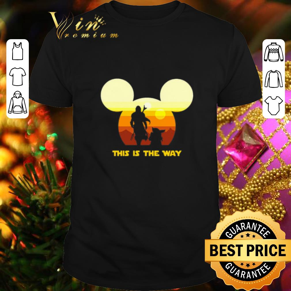 - Mickey head The Mandalorian this is the way sunset shirt