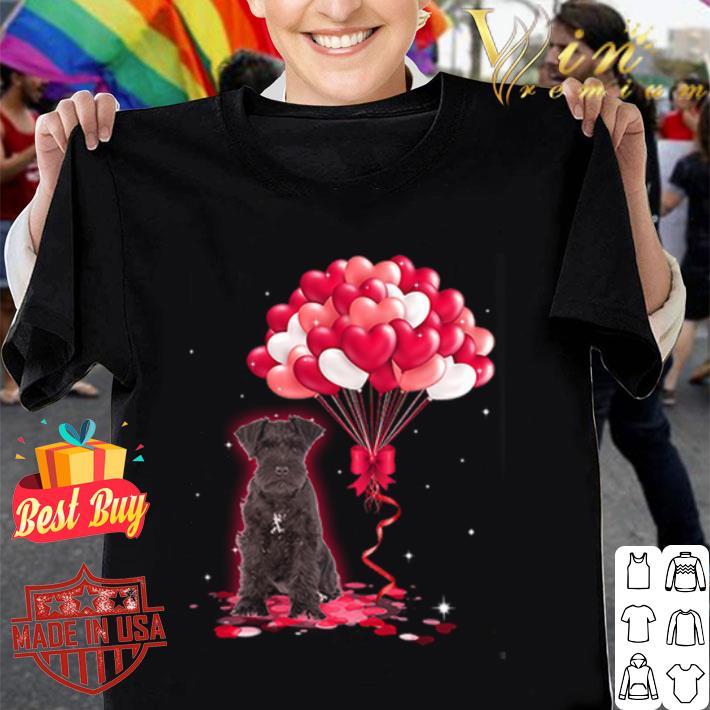 Miniature Schnauzer dog Love Balloons heart shirt