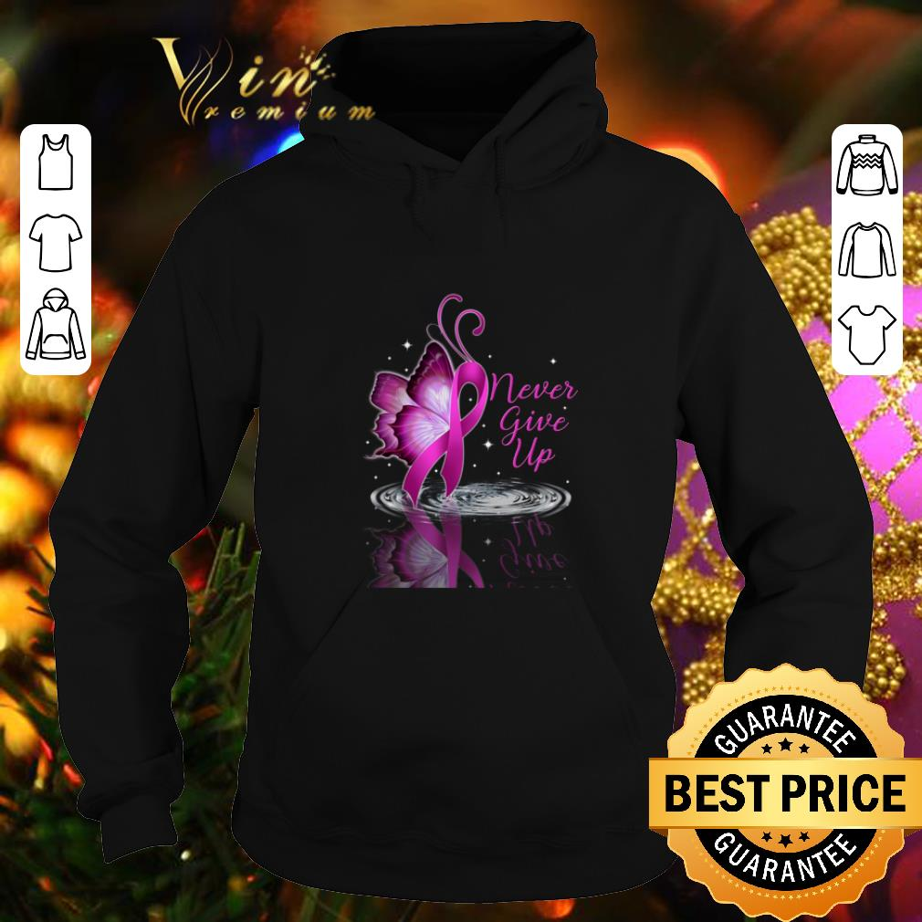 Never give up Breast cancer Awareness reflection water mirror shirt